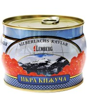 Красная икра лососевая Lemberg Кижуч 500 г