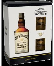 Виски Jack Daniel's Honey в коробке + 2 бокала 0,7л