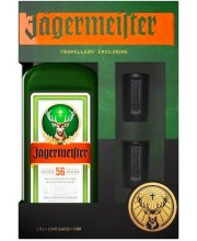 Ликер Jagermeister Party Pack 1,75л с двумя шотами и помпой