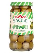 Оливки зеленые без косточек SACLA Snocciolate 560 g